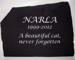 Beautiful memorial for beautiful cat named narla