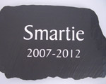 Slate Memorial for Pet Smartie